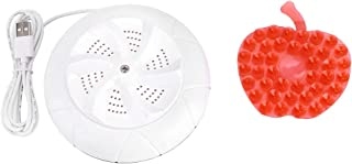 Vikbar USB-badkar tvättmaskin, mini resa bärbar hushåll liten tvättmaskin ultraljud turbo bricka tvätt (?)