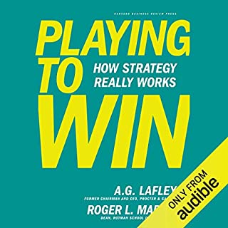 Playing to Win audiobook cover art