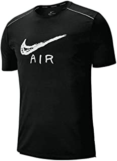 Mens Cool Miler Graphic Running T-Shirt Black/White-Reflective Silver AQ6847-010