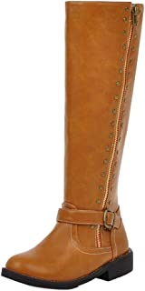 RizaBina Women Classic Riding Boots Pull On Knee High Boots