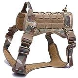 NO LOGO XBF-LIEQ, Gilet di Cane Militare Impermeabile Gilet tattico per Cani Giacca di Nylon Molle...