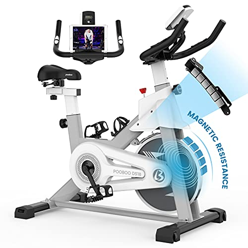 pooboo Indoor Cycling Bike with Magnetic Resistance Exercise Bikes Stationary,Silent Belt Drive with...