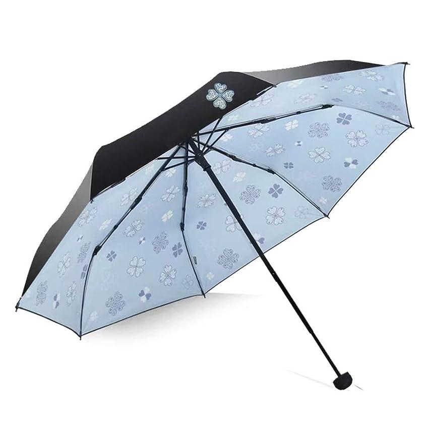 信頼性ジョブ樹木L.P.L 折りたたみ傘 軽量 レディース マニュアル 撥水加工 耐強風 118cm 耐風撥水 晴雨兼用 レディース 旅行 アウトドア用 (Color : 水色, Size : フリー)