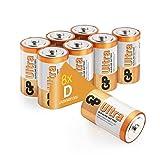 Size D batteries |Pack of 8| GP Batteries |Superb operating time| LR20 |