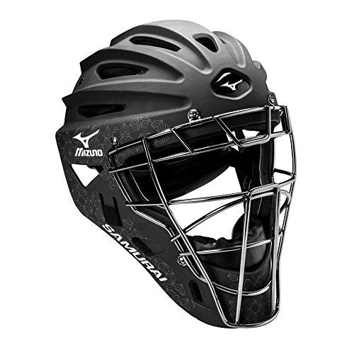 Mizuno Samurai Women's Fastpitch Softball Catcher's Helmet, Size 6 1/2 - 7 1/4, Black