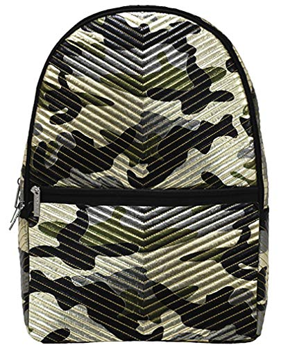 iscream Metallic Camo Puffy Quilted 18' x 12' Backpack for School and Travel
