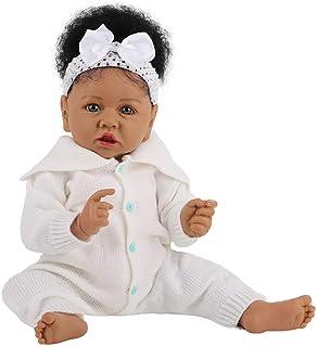 23 cal 58cm czarne afrykańskie lalki dla dzieci silikon Reborn Handmade Doll realistyczne noworodka lalki dla dziewczynek ...