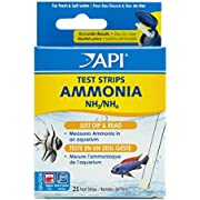 API AMMONIA TEST STRIPS Freshwater and Saltwater Aquarium Water Test Strips 25-Test Box