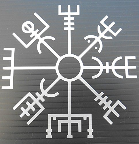 Islandais Rune Tumblr Vegvisir Décalque de Vinyle (Argent)