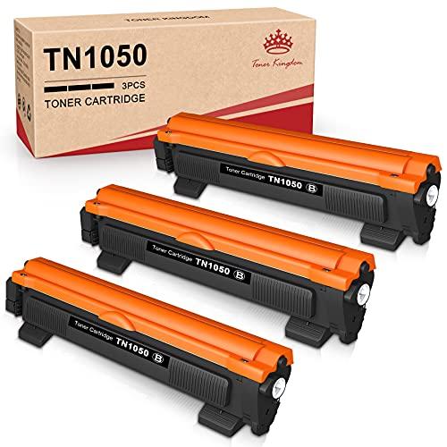 Toner Kingdom - 3 Cartucce Toner Compatibili per Brother TN1050 Sostituzione TN-1050 per Brother HL-1112 HL-1110 HL-1210W HL-1212W DCP-1510 DCP-1610W DCP-1612W DCP-1512 MFC-1810 MFC-1910W (3 nero)