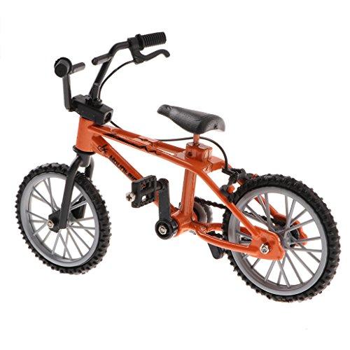 1 / 24th Mini Lega Bici Bike BMX Mountain Bicicletta da Bicicletta Giocattolo Regali Scrivania Gadget - Arancia