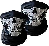 Pasamontañas de Calavera 3 pzas Negros sin Costuras de Cara del Cráneo Máscara de Tubo Máscara Facial de la Motocicleta
