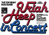 Uriah Heep - Firefly 1977 - Poster Plakat Konzertposter