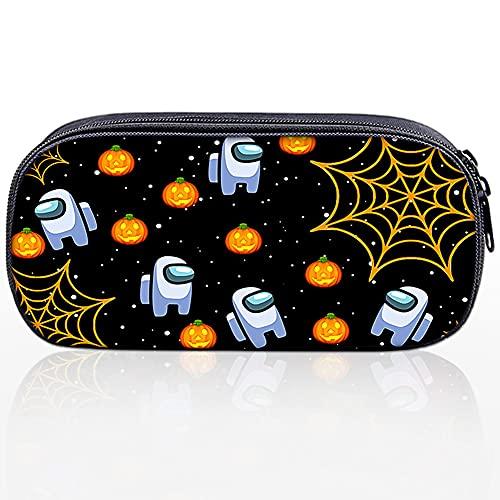 LLMZ Estuche 1PCS Multifuncional Estuche de Lápices Compartimentos con Cremallera Bolsa Para Niñas y Niño (Negro)