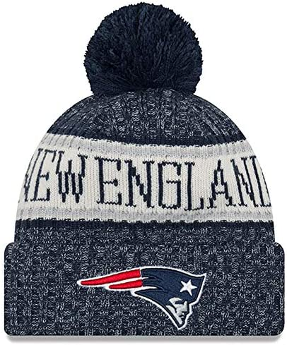 New Era Youth New England Patriots Sport Knit NFL Beanie Navy Blue Gray Jr Youth product image