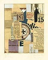 Kurt Schwitters ジクレー 紙に印刷-有名な絵画 美術品 ポスター-再生 壁の装飾(メルツは) #XZZ
