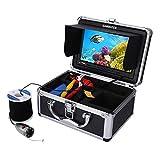 SISHUINIANHUA 1000TVL HD Fish Finder Kit de cámara de Pesca submarina LED Luces de la lámpara Video Fish Detector DVR IP68 a Prueba de Agua,20m