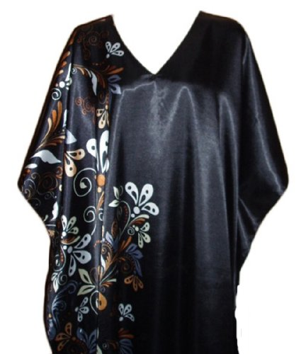 Up2date Fashion Caftan with Midnight Dream Floral Vines, Style#Caf-60C2