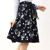 レッセパッセ(LAISSE PASSE) バイカラーフラワープリントスカート