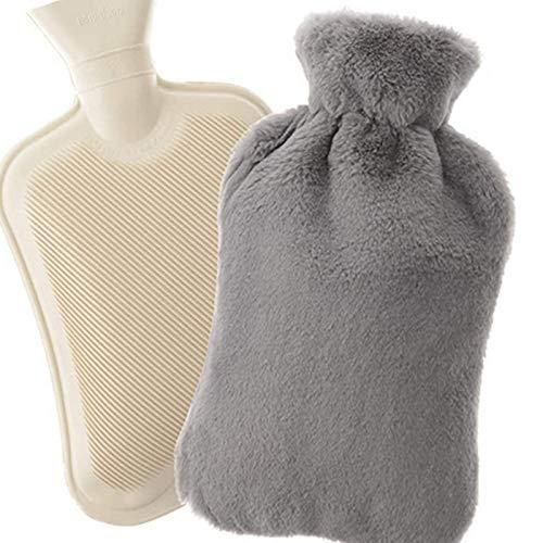Remebe Juego de calentador de botellas de agua caliente de goma de...