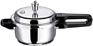 Vinod V-3L Stainless Steel Sandwich Bottom Pressure Cooker, 3-Liter