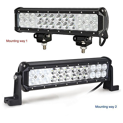 Kohree 12 Inch 72W 7200lm Cree Spot Flood Combo Beam Led Work Light Bar for Off-road SUV Boat Jeep-1 Pack