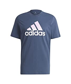 Adidas Front Logo Print Short Sleeves Crew Neck T-shirt For Men S