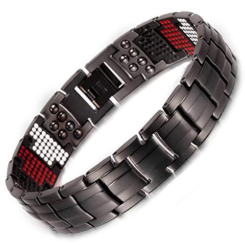 Herren Titan magnetisch bracelet-all sizes-negative Ion Balance Armband Golf Geschenke Gesundheit Armband für Arthritis Karpaltunnelsyndrom Tennis Handgelenk joint-bt600 22.5 cm / 8.85 in