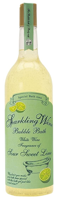 ジョブ上へ動揺させるノルコーポレーション 入浴剤 バブルバス スパークリングワイン 大容量 810ml ライムの香り OB-WIB-3-2