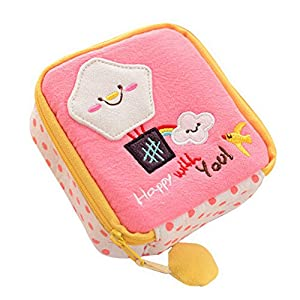 Cute Cartoon Sanitary Napkin Towel Pads Small Bag Purse Holder Organizer Makeup Bag Coin Purse
