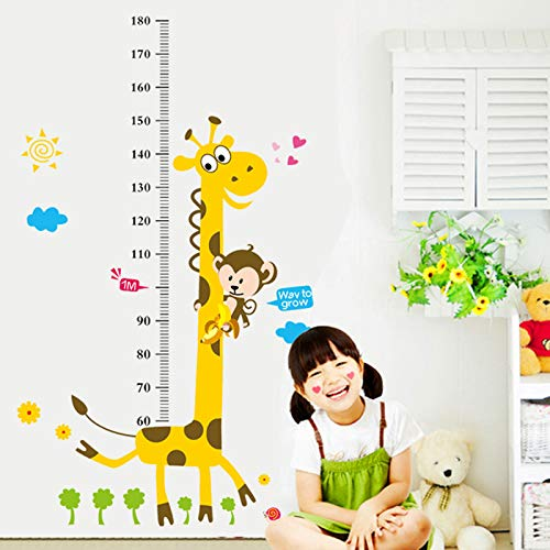 Rainbow Fox XL Singe coton Growth Chart Stickers muraux girafe hauteur Diagramme Ruban de mesure Toise Sticker Mural pour Chambre denfant Cadeau style2