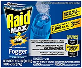 Raid Max Fogger, Insect Killer for Mosquito, Ant, Roach, Spider, Flea, For Indoor Use, 2.1 Oz, 3 Count