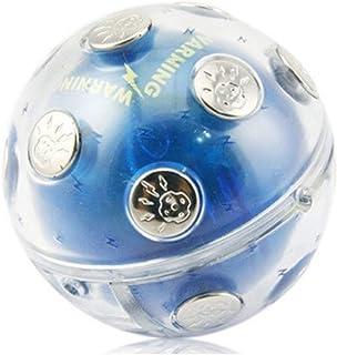 HETUI Boîtier en Plastique Neutre de Boule de Choc de Divertissement avec Le Jouet électrique de Contact en métal (Bleu)