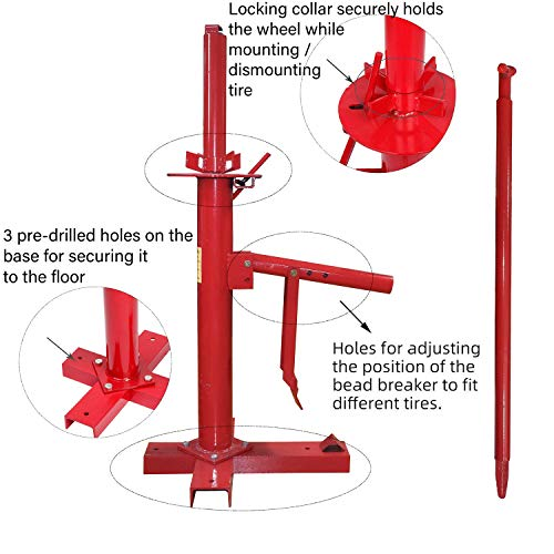 HTTMT- Manual Portable Hand Tire Changer Bead Breaker Tool Mounting