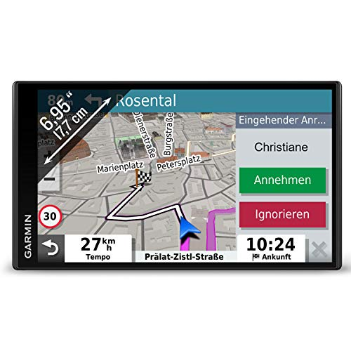 Garmin DriveSmart 65 MT-S EU Navi - extragroßes Touch-Display, 3D-Navigationskarten und Live-Traffic via App
