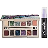 Urban Decay Eye Makeup Set - Stoned Vibes Eyeshadow Palette + Travel-Size All Nighter Long-Lasting Makeup Setting Spray