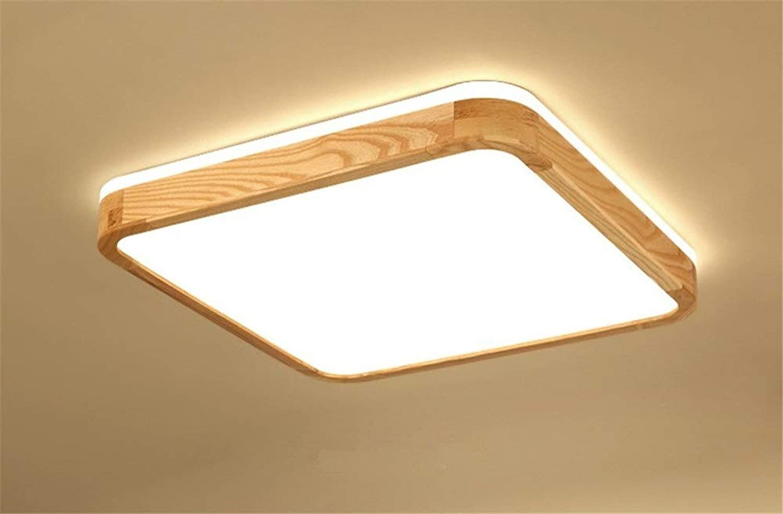 Nordische japanische Art Schlafzimmerlampe Wohnzimmerlampe stufenlose Verdunkelung führte Deckenleuchte Massivholz Quadrat Atmosphre modernen minimalistischen (Farbe   Neutral light-30cm)