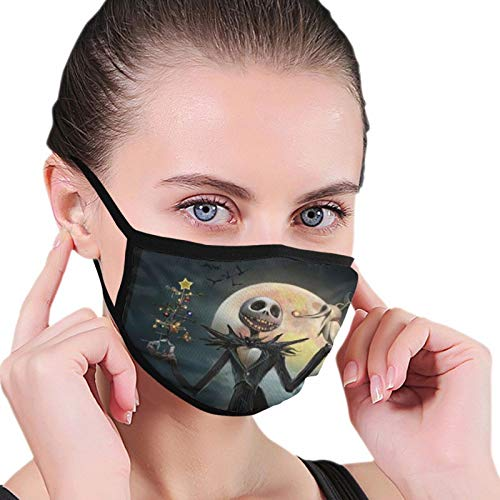 Mouth C-over The Nightmare Before Christmas Anti Dust Reusable Washable Facial ProtectionJack Skellington Zero Winter Scarf Nose Mouth Face Cover for Men Women