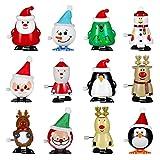 Toddmomy Paquete de 12 Juguetes de Cuerda de Navidad Calcetín de...