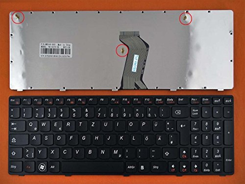 kompatibel mit Lenovo Ideapad G570, G575 Tastatur - Farbe: schwarz - Deutsches Tastaturlayout