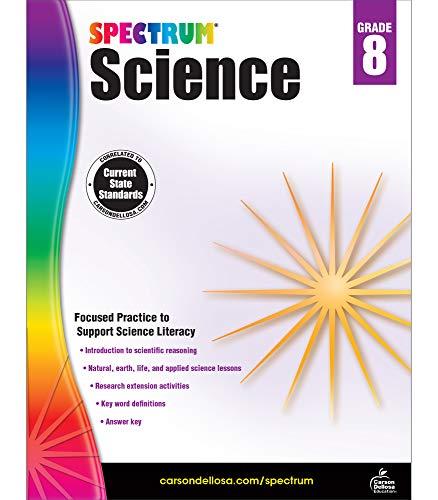 Spectrum | Science Literacy Workbook | 8th Grade, 176pgs