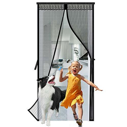 KINGTERENC Magnet Fliegengitter Tür Insektenschutz 100x210cm - Schwerlast, Magnetischer Fliegenvorhang Moskitonetz Automatisches Schließen Insektenschutz für Balkontür Wohnzimmer Terrassentür