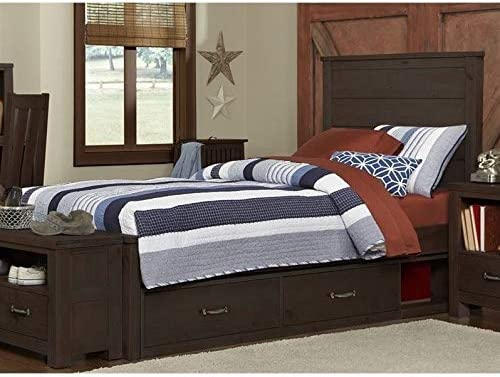 Rosebery Kids Twin Seattle Mall Panel Espresso Storage Bed in OFFicial