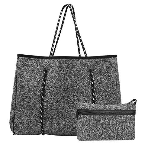 Bolso de playa conveniente, bolso de playa de neopreno, artículo duradero para compras al aire libre de mujer de playa