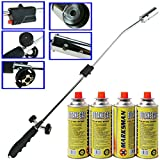 Weed Burner Killer Wand Butane Gas Canister Blowtorch Adjustable Flame Garden Outdoor Destroys