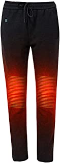 Winter Heated Warm Pants - USB Heating Hiking Pant - Outdoor Sports Ski Smart Knee Heat Warmer Elastic Trousers (Battery N...