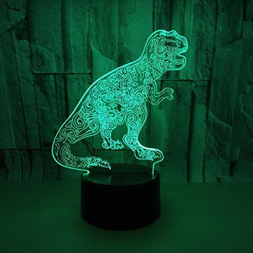 WULDOP Luz Nocturna De Led Dinosaurio patrón creatividad. Lámpara Nocturna Luz De Noche Luz Quitamiedos Infantil Led Para Habitación Infantil Dormitorio Baño Cuna Pasillo