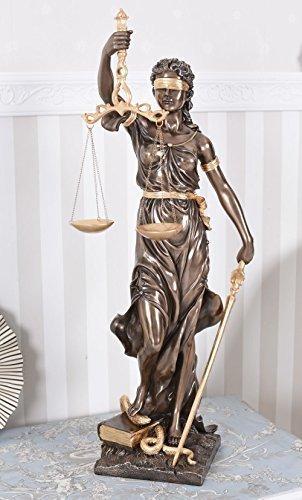 Justitia Figur Göttin der Gerechtigkeit Jugendstil Skulptur Antik 75cm Palazzo Exklusiv