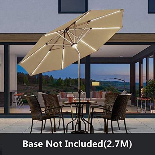 YLJYJ Sombrillas Sombrilla para Patio, sombrilla con luz LED con Ajuste de inclinación y Tela Resistente a la decoloración para Playa/Piscina/Patio/jardín (Silla)