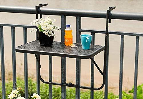 Sicherheitsglas gartenmoebel-einkauf Balkonh/ängetisch 120x40cm Stahl grau klappbar